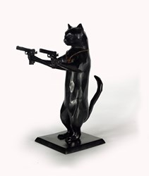 Rebel With The Paws (bronze) by Maxim - Original sized 12x16 inches. Available from Whitewall Galleries